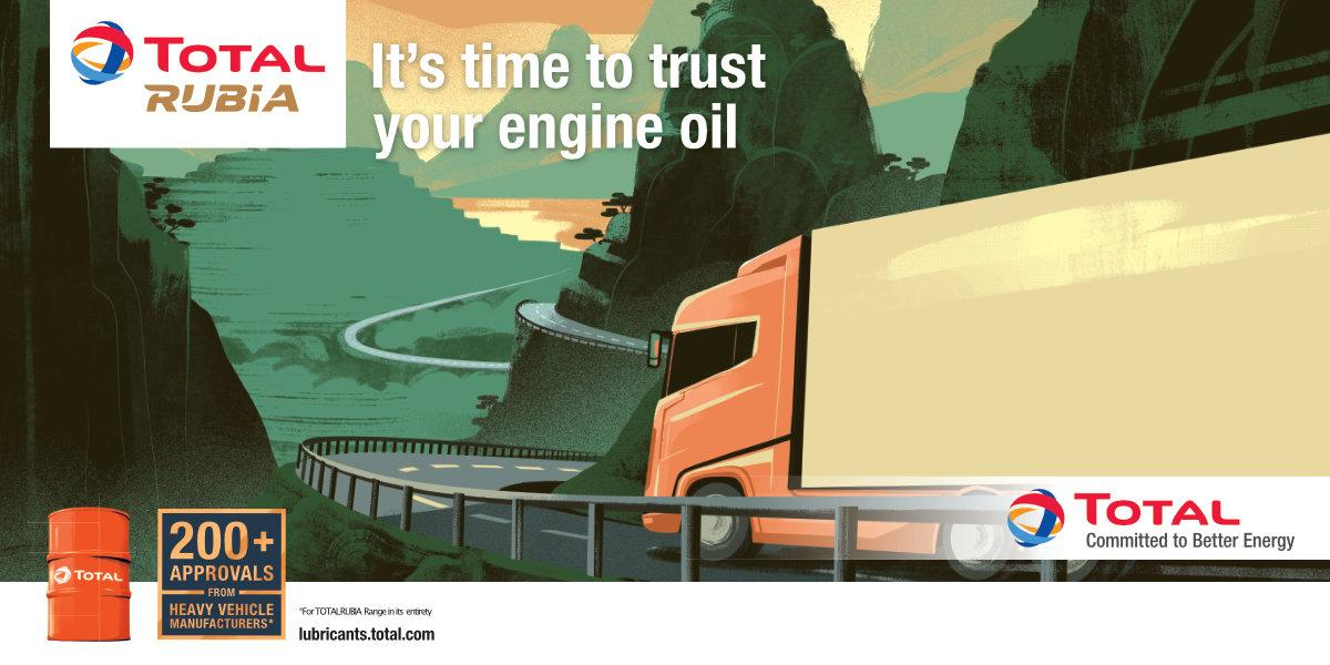 It's time to trust your commercial engine vehicle with Total Rubia