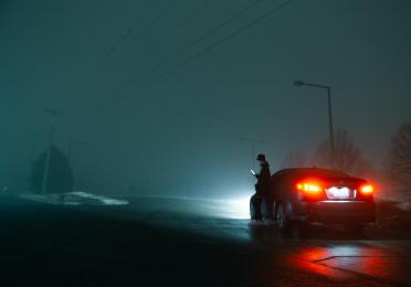 have your lights on and be visible during night time emergency stops