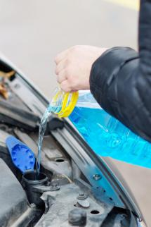 Remember to add the right washer fluid to avoid any surprises