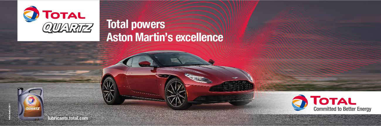 Total powers Aston Martin's excellence